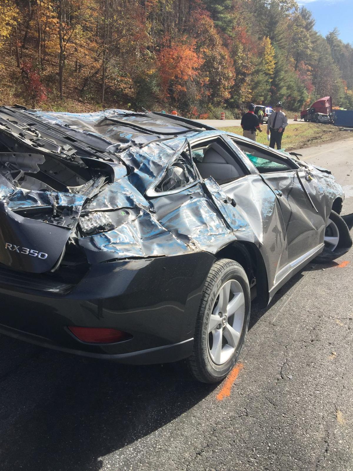 Smashed SUV