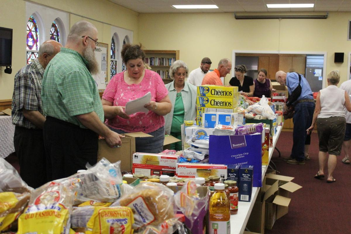 Food boxes at Grace Lutheran