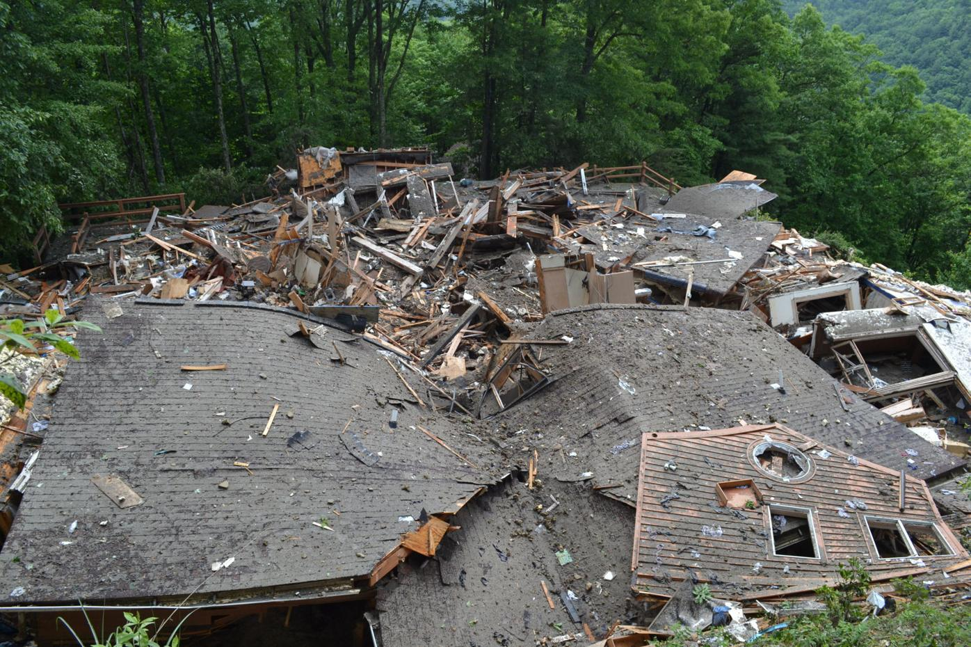 Collapsed house (top)