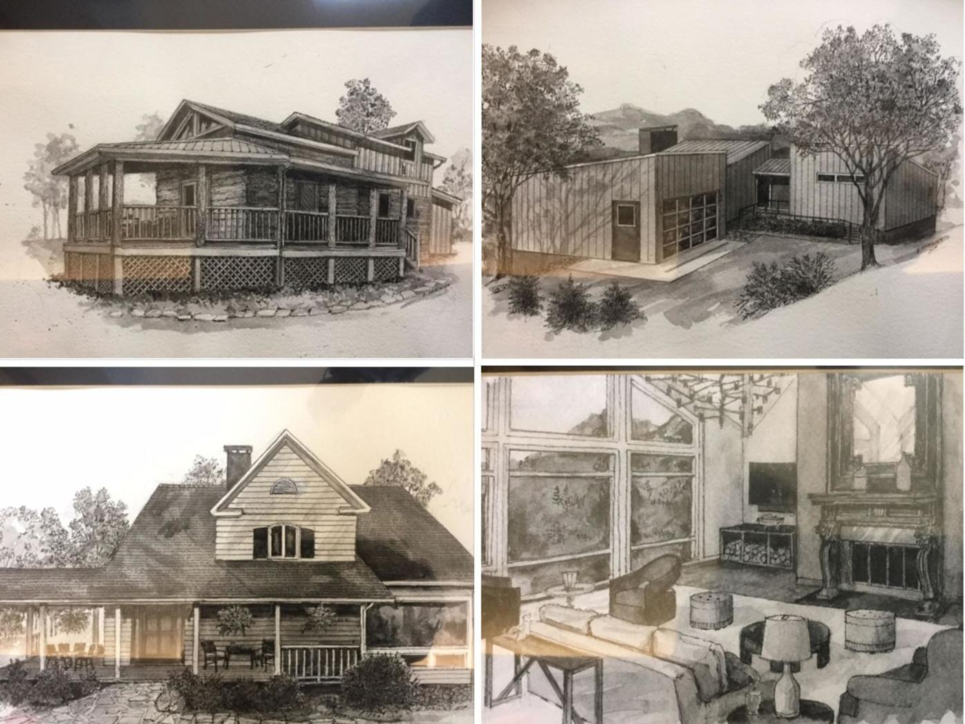 2019 Tour of Homes sketches