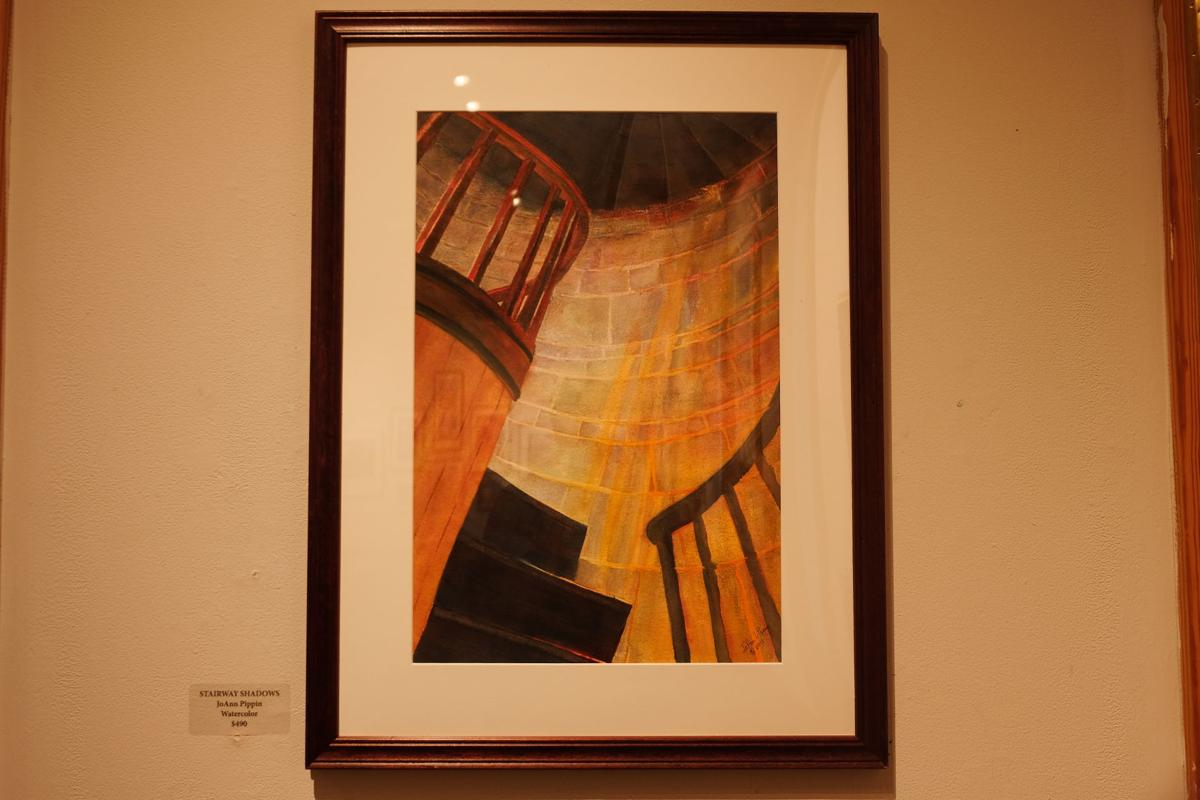 'Stairway Shadows' by JoAnn Pippin.