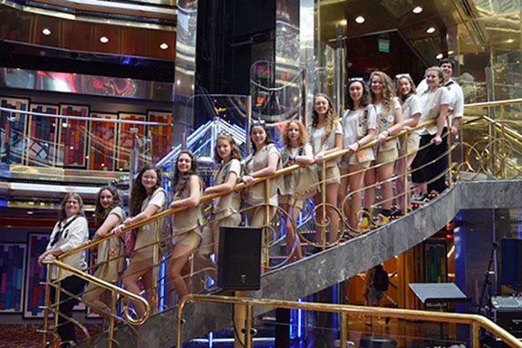 Troop 10807 on a cruise to the Bahamas
