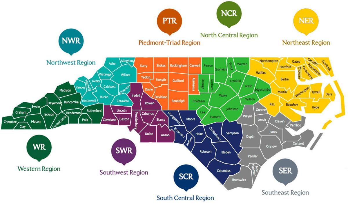 North Carolina's prosperity zones