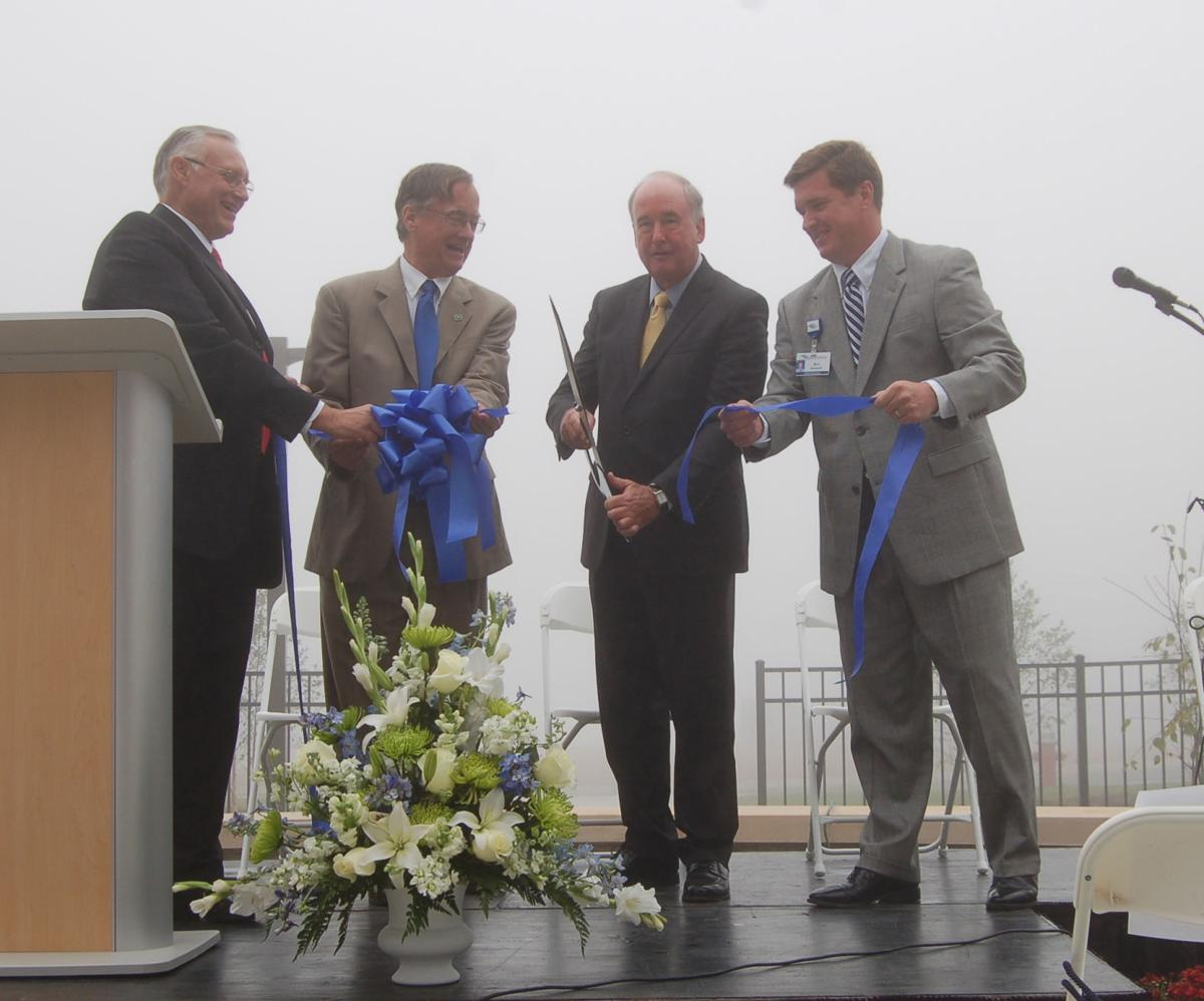 The cutting of the ribbon