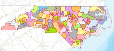 Image result for north carolina racial gerrymandering maps 2019 general assembly