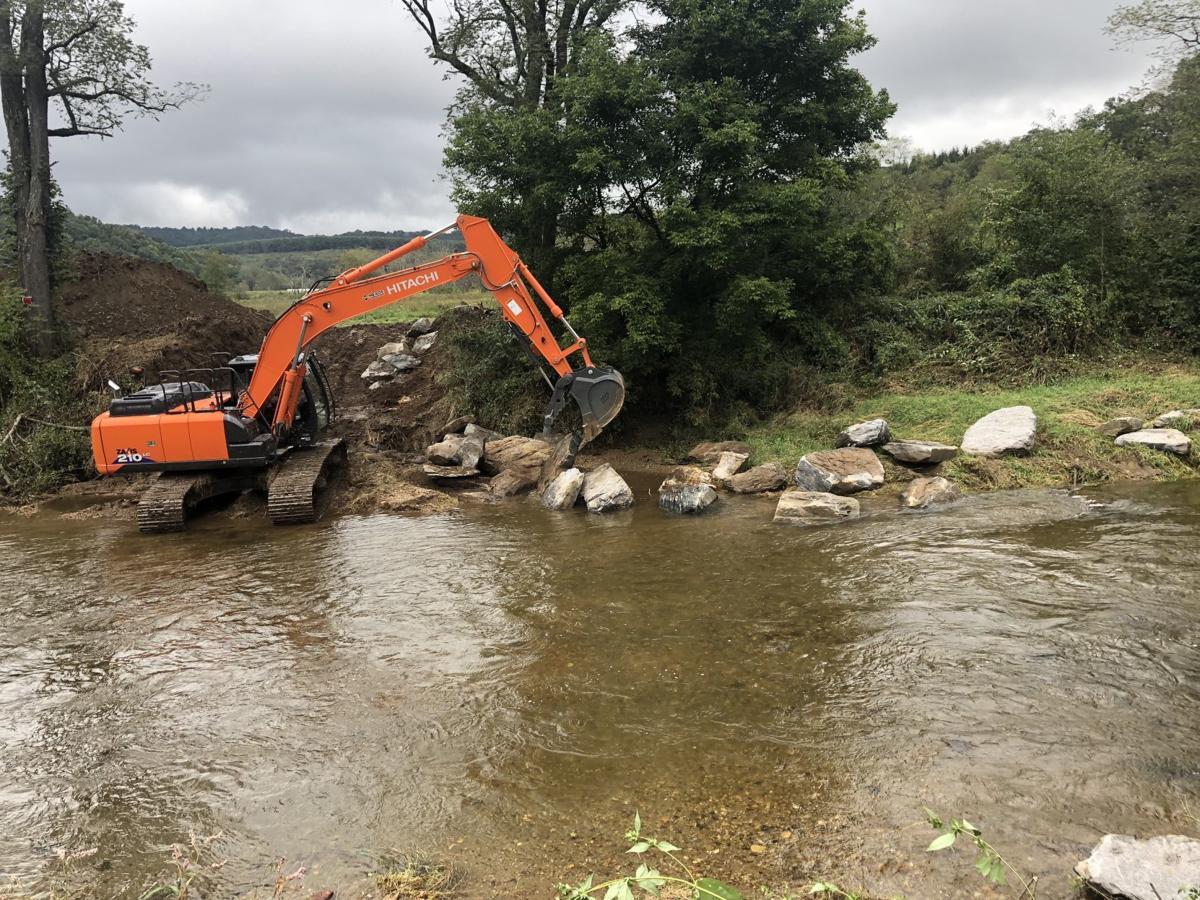 Streambank work