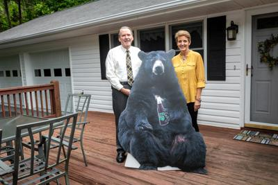 Edwards with bear