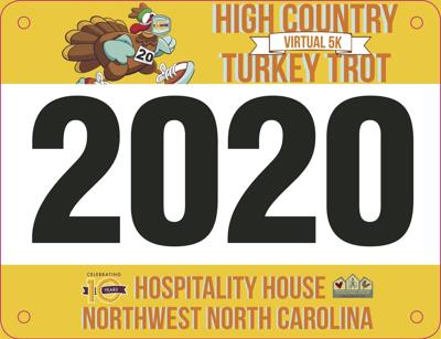 Turkey Trot bib