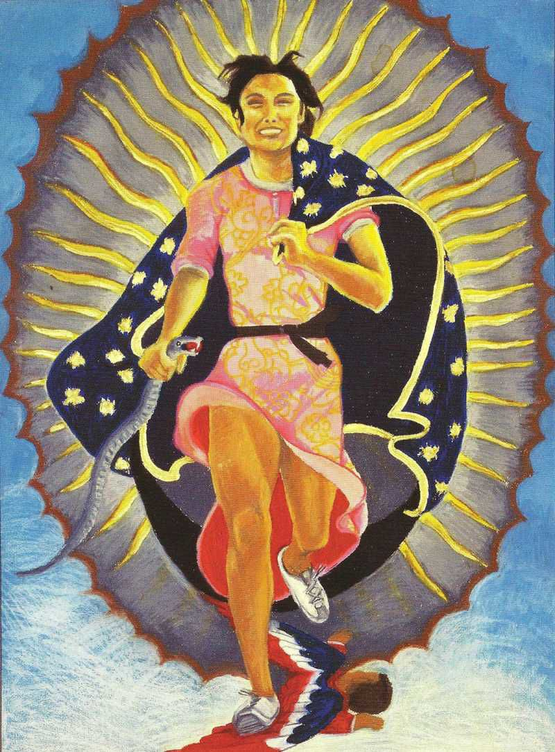Yolanda Lopez, Portrait of the Artist as the Virgin of Guadalupe,1978.