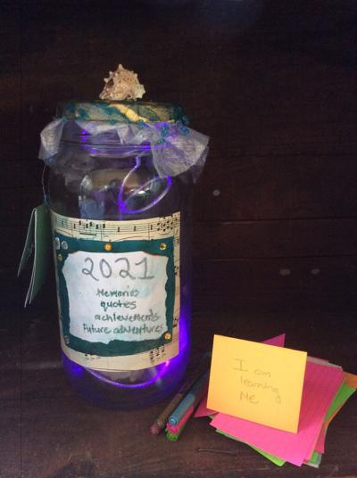 Year-end contribution jar