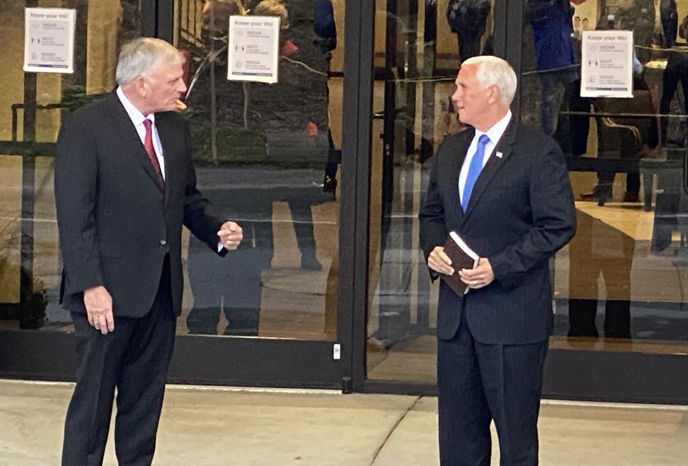 Franklin Graham and Vice President Mike Pence