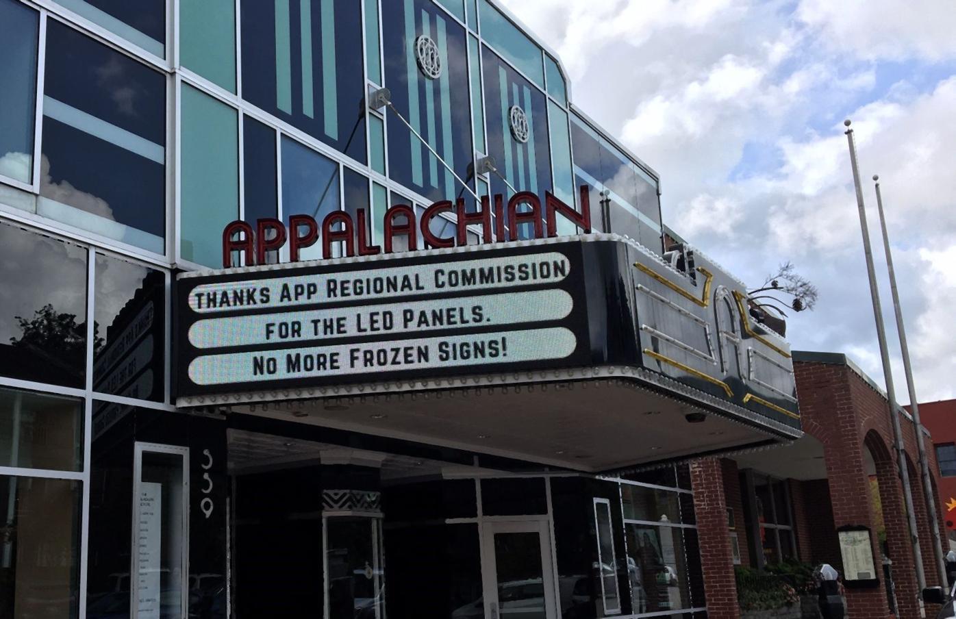 App Theatre sign
