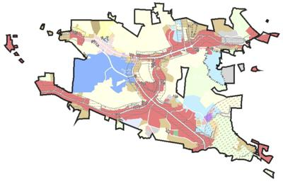 Boone zoning map