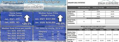 January 2021 Real Estate statistics