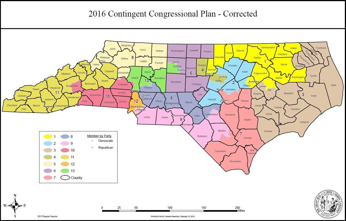 Congressional Shift Avery Moved To Fifth Us Congressional - Us-map-nc