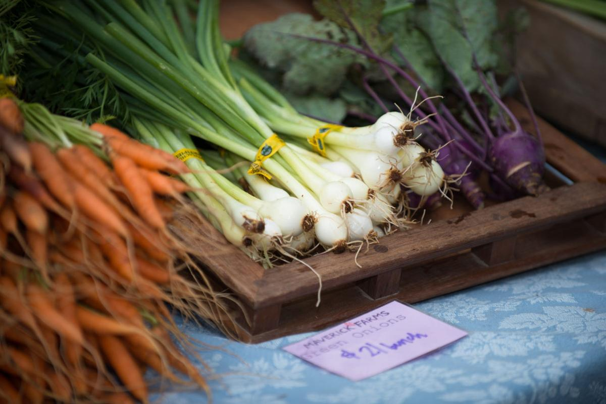 Green onions and carrots