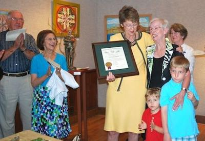 Clawson receives highest NC award