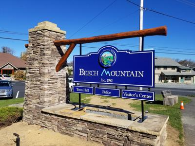 Beech Mountain Town Hall sign