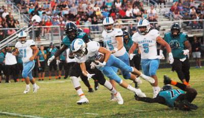 Watauga's Seb Best tripped up