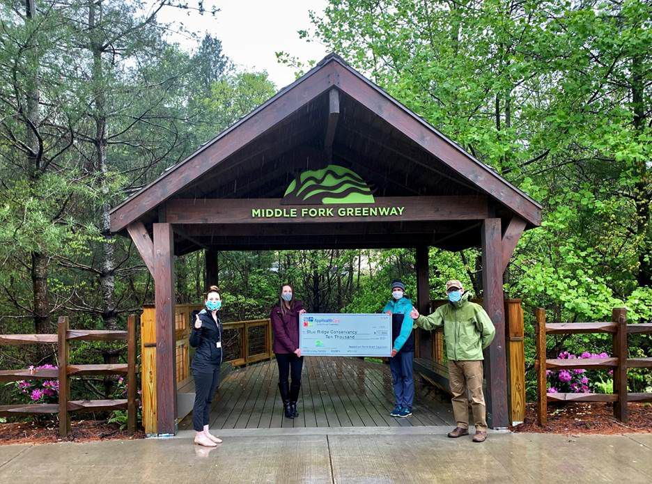 AppHealthCare awards $10k to Middlefork Greenway project