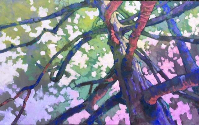 'Twilight Oak' in oil on canvas (30 x 48) by Stephen Brooks
