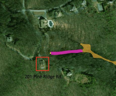 201 Pine Ridge and 1940 landslide