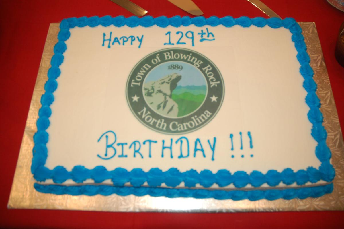 Blowing Rock 129th birthday cake