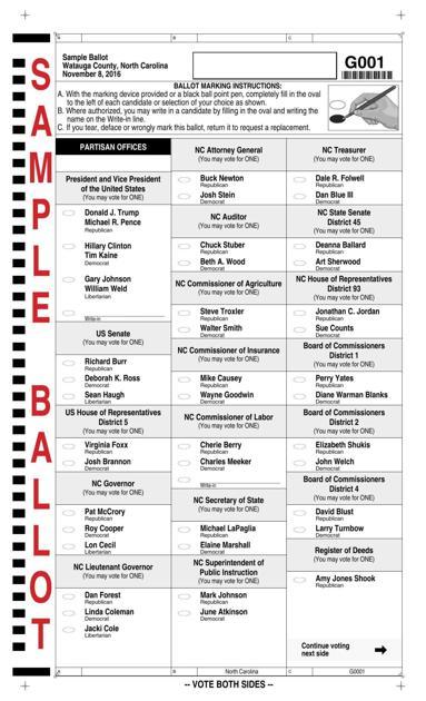 watauga general election sample ballot