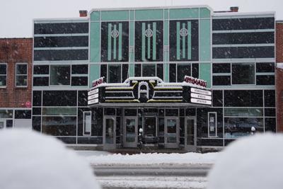 Appalachian Theatre in snow