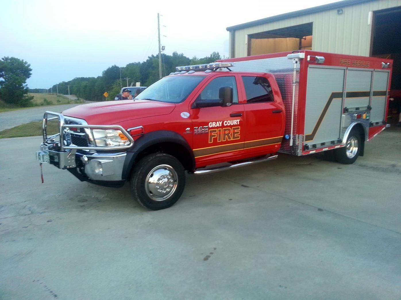 Gray Court Area Fire Department truck