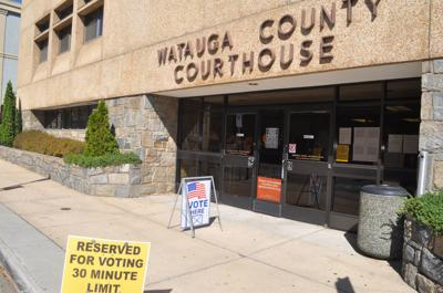 Courthouse voting entrance