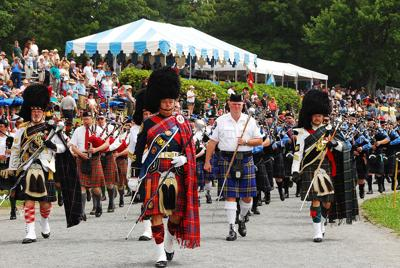 Grandfather Mountain Highland Games Pipers