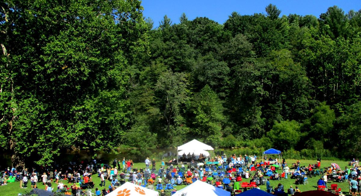 The New River Blues Festival is an annual event that brings crowds to the lawn of the River House Inn in West Jefferson.