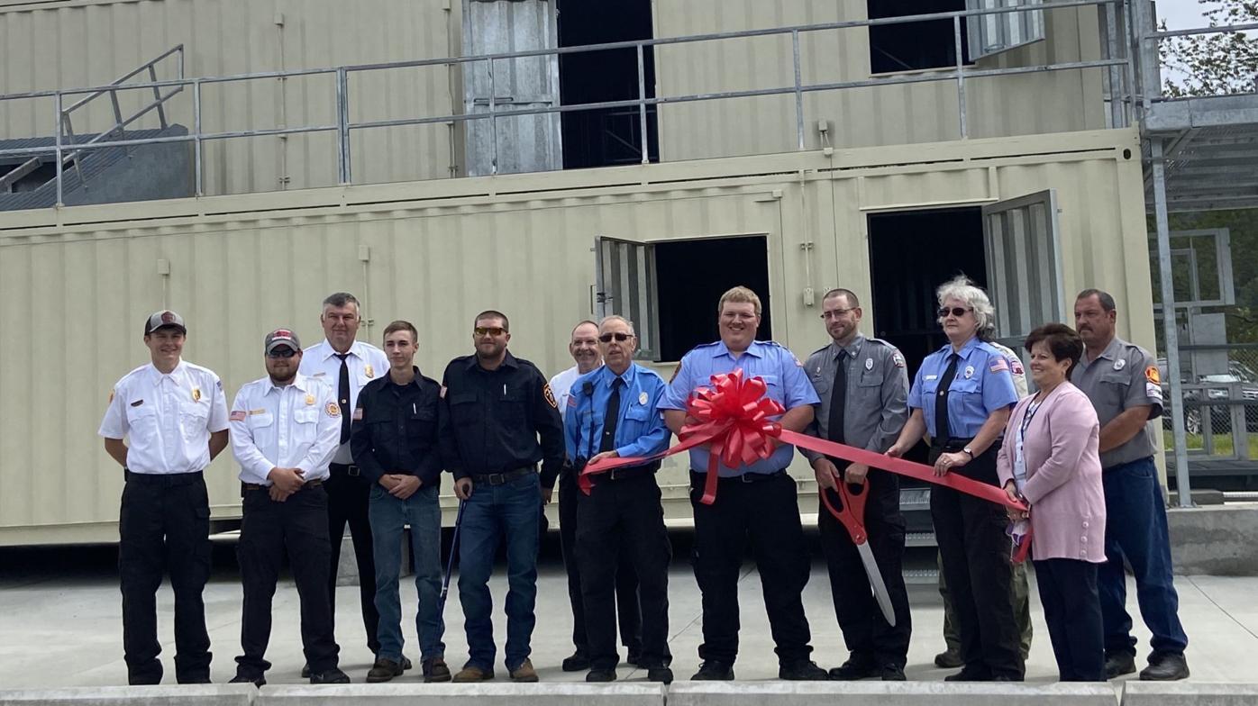 Fire training facility ribbon cutting
