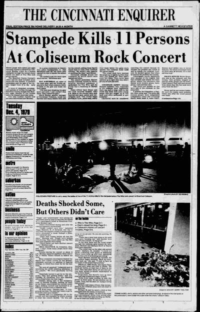 Newspaper of coliseum stampede