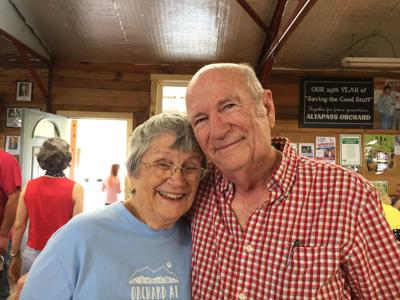 Bill and Judy Carson are known for their warm smiles and southern hospitality at The Orchard at Altapass.