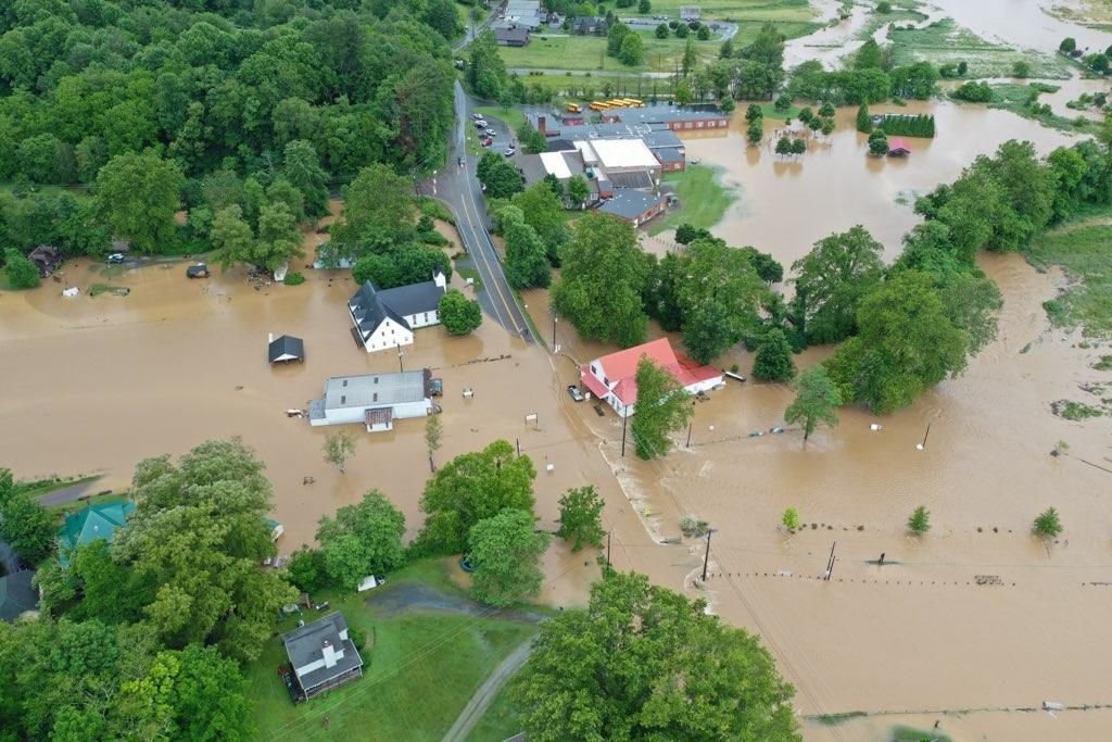 Valle Crucis flooding