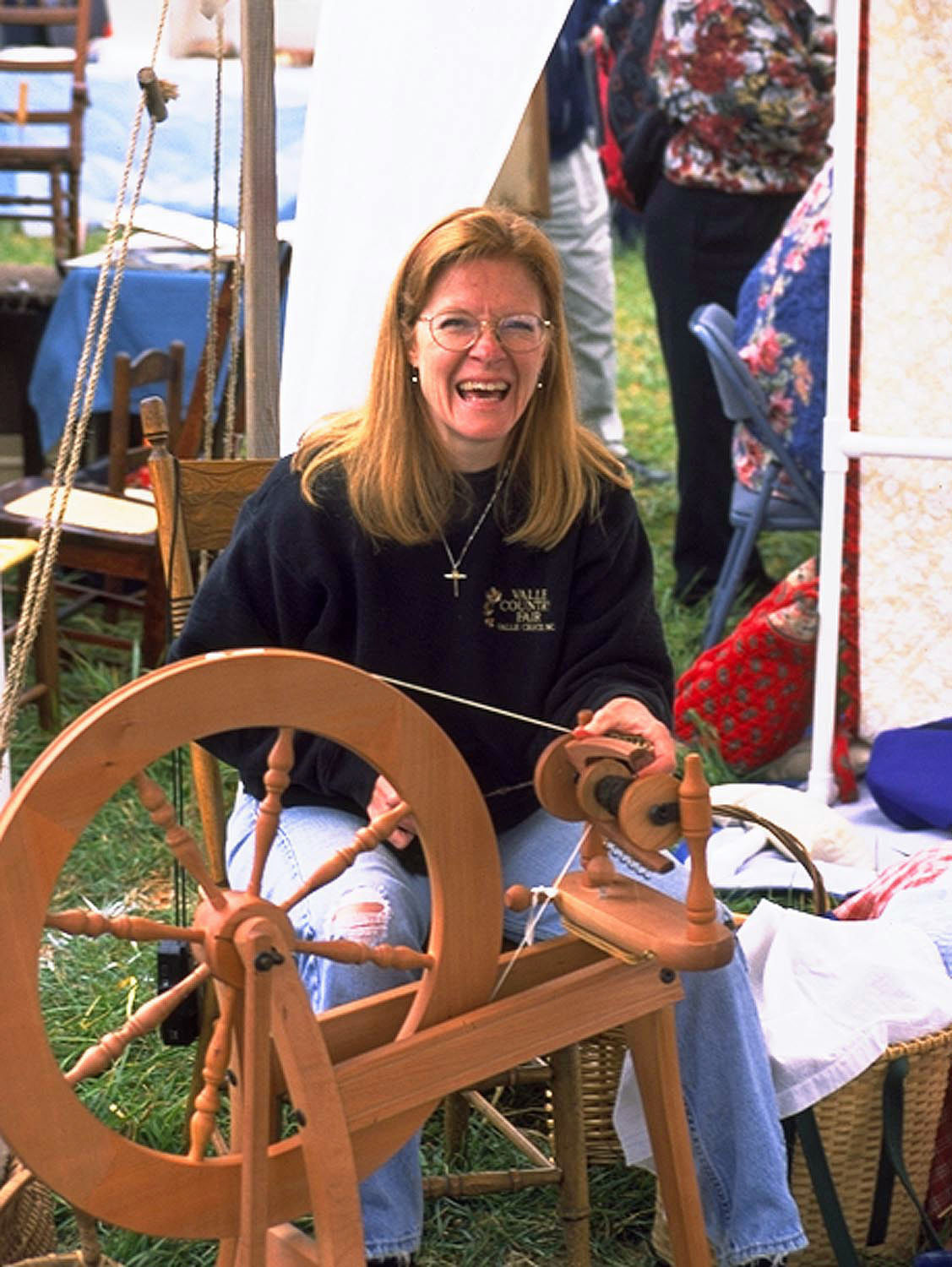 VCF - Cathy Cole Demonstrating Spinning