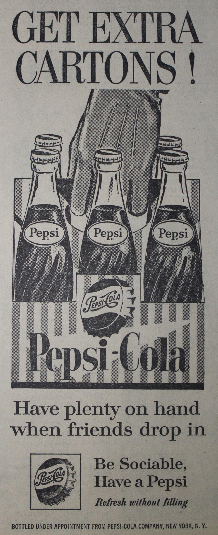 1961 Pepsi ad