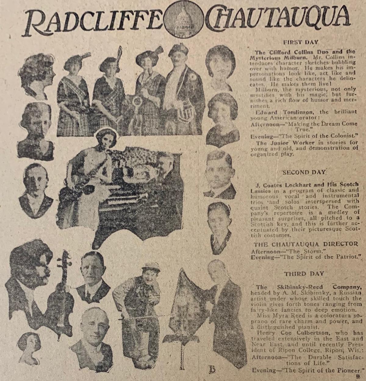 Radcliffe Chautauqua 1922