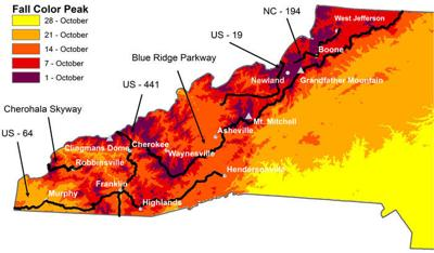 Howie Neufeld fall color peak map 2021