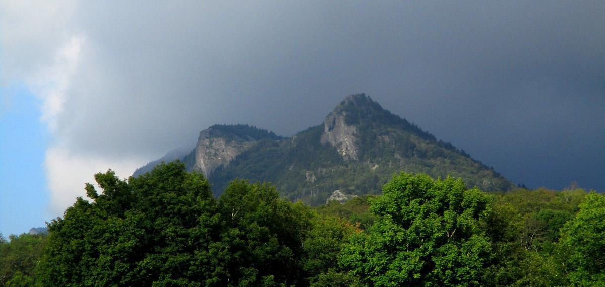 Grandfather Mountain as seen from MaCrae Meadows