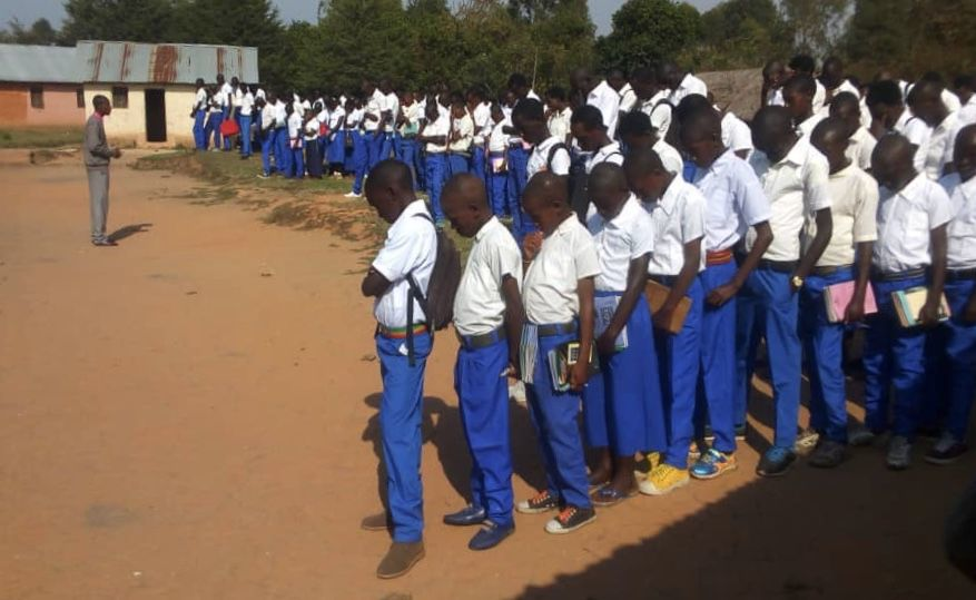 Praying students