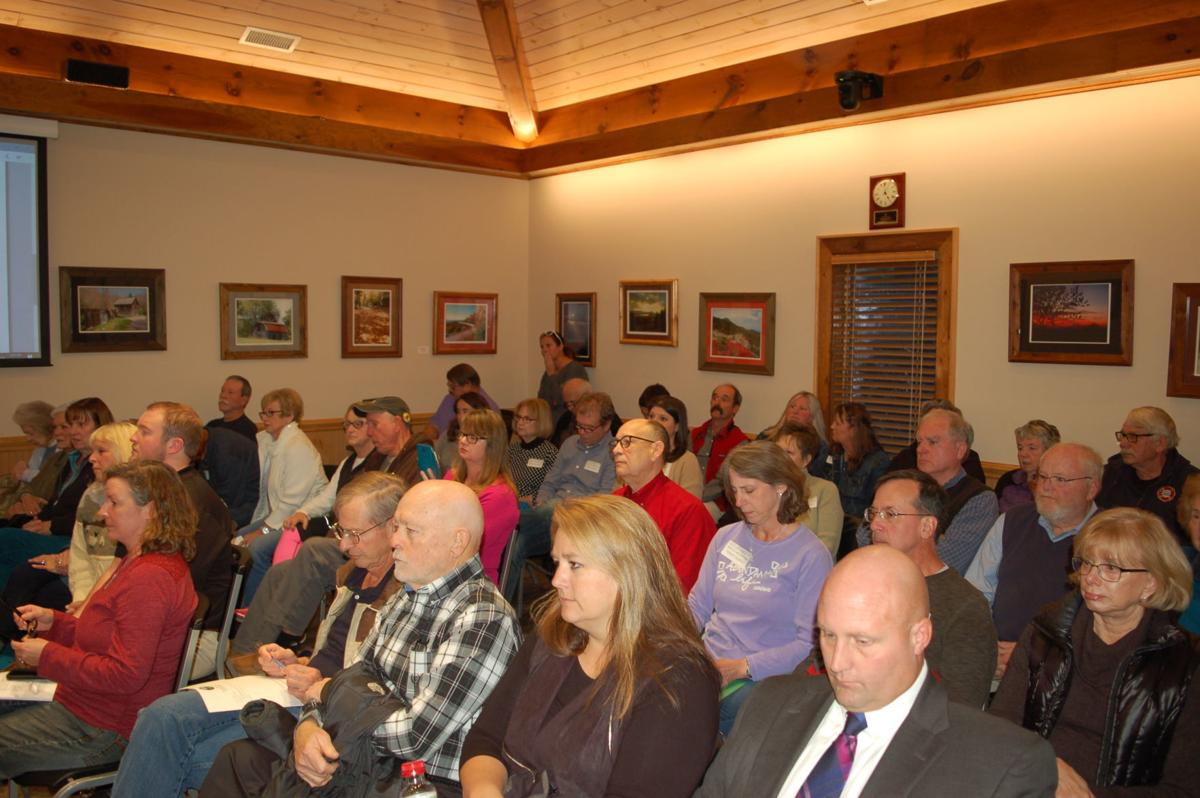 Packed Beech Mountain Town Hall