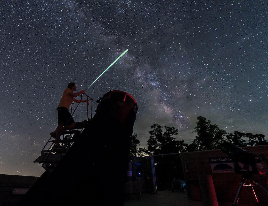 Jeremy Bare at observatory