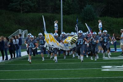 Pioneers run onto field