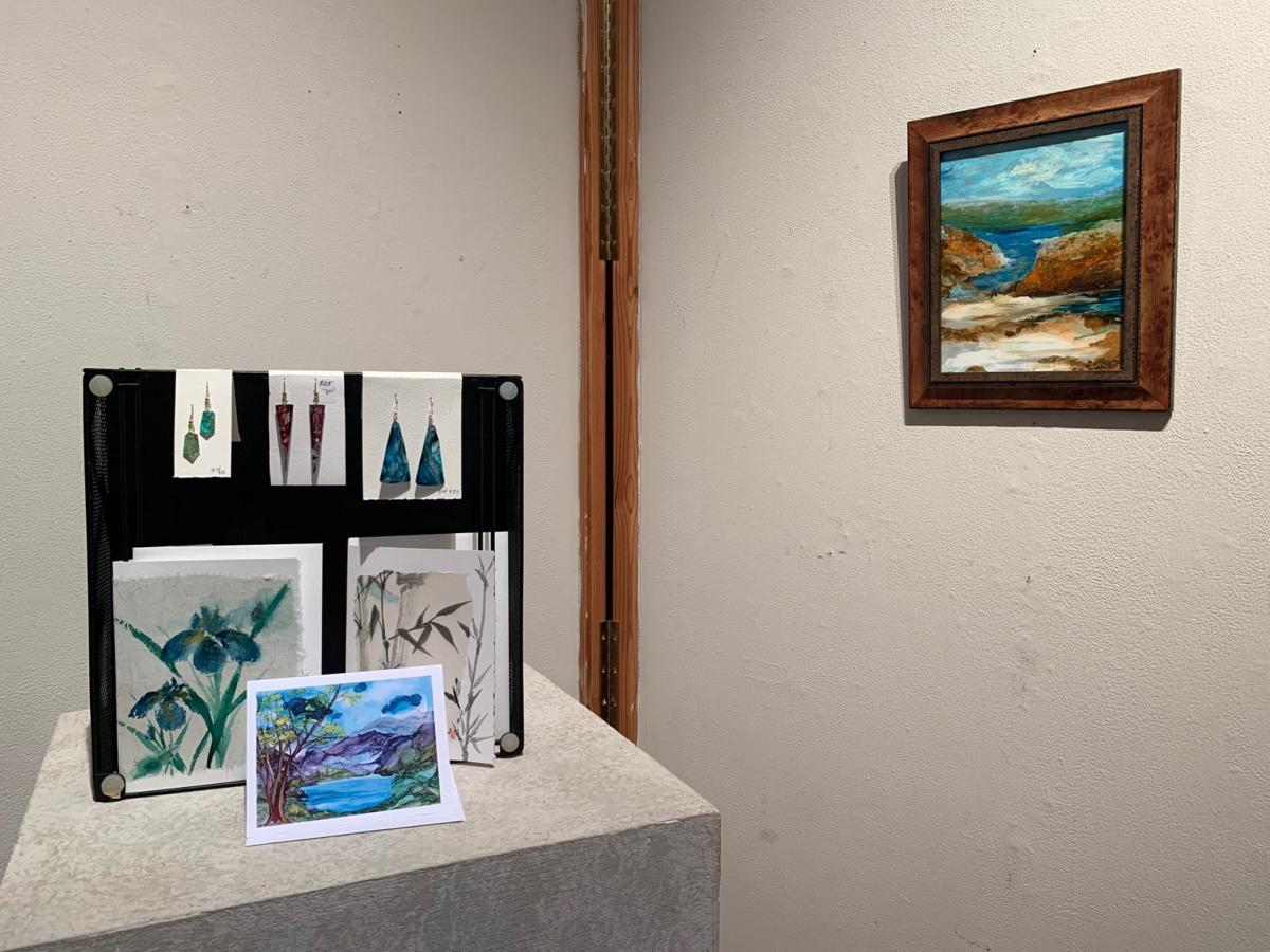 Artwork and jewelry by Dawn Wicklow, who is on the Ashe County Arts Council Studio Tour on Aug. 3 and Aug. 4.