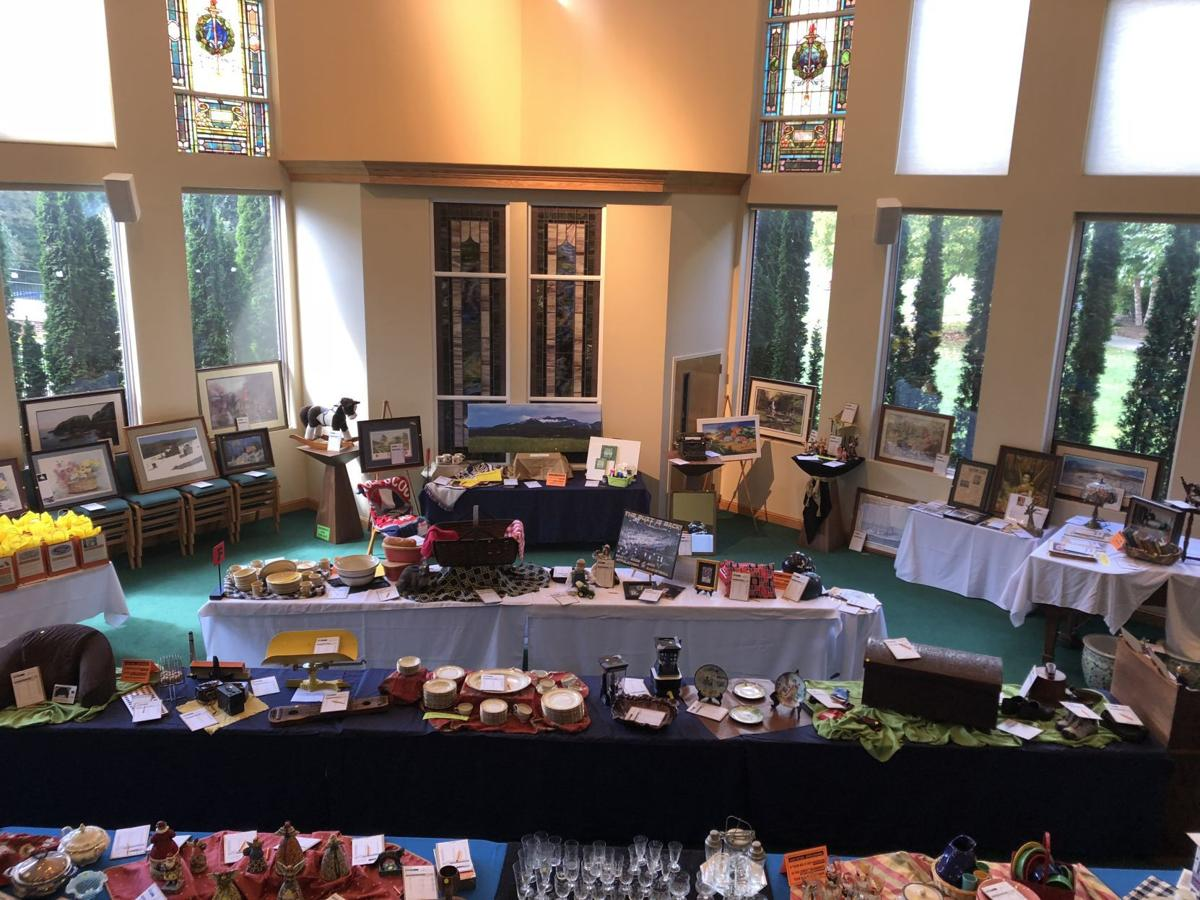Items in the silent auction are mostly antiques and rare finds.