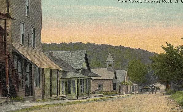 Blowing Rock Main Street as dirt road