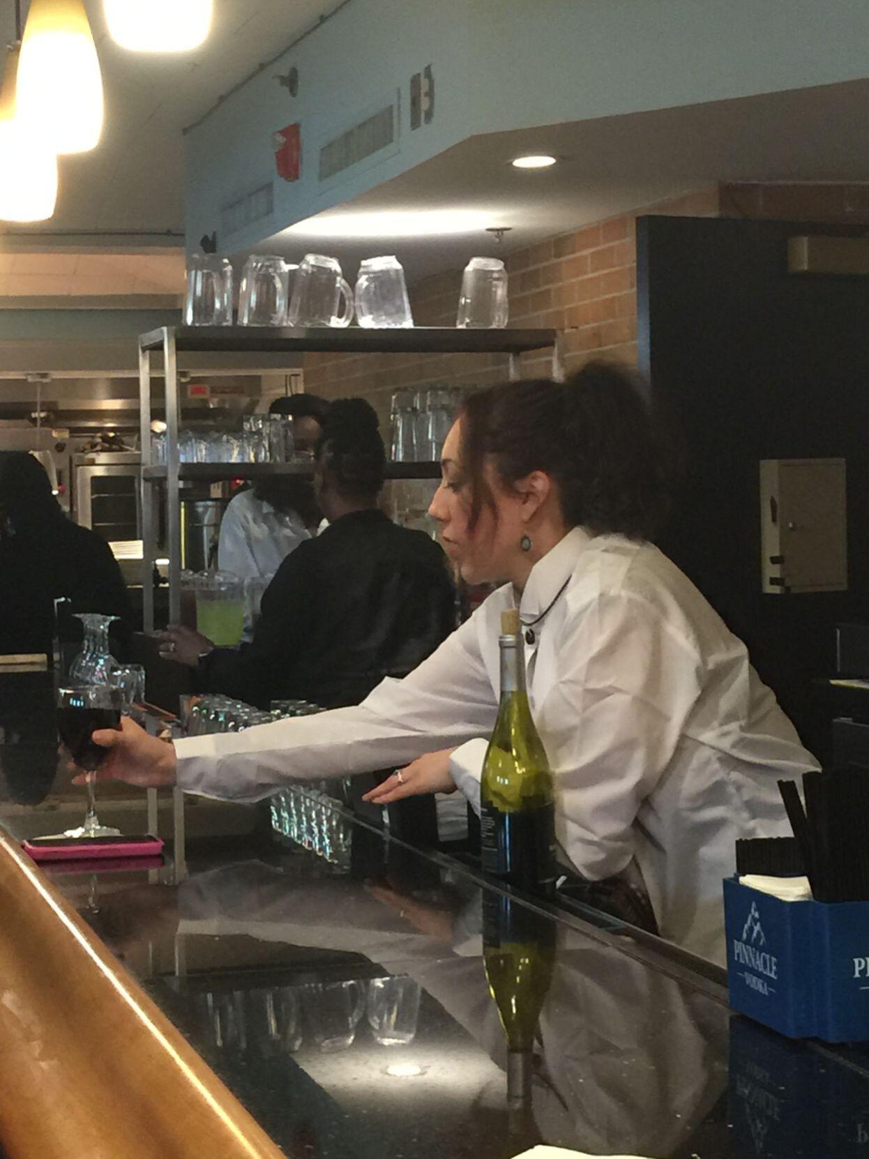 Bartender Andrea Velasquez in WAGING CHANGE